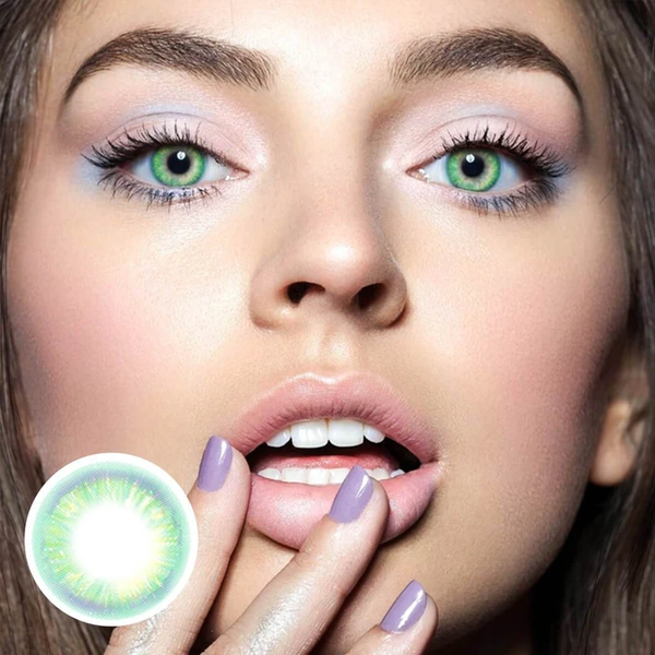 Neon Green Colored Contact Lenses