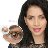 Honey Brown Colored Contact Lenses
