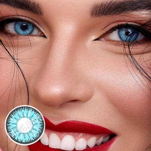 Vika Tricolor Blue Colored Contact Lenses