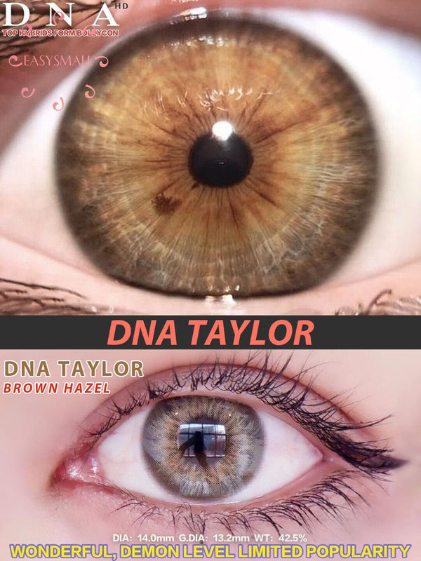 Taylor Brown Hazel Colored Contact Lenses