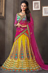 http://www.variationfashion.com/collections/lehenga-sarees/products/hypnotex-yellow-pink-net-3-piece-lehenga-choli
