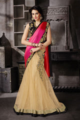 http://www.variationfashion.com/collections/lehenga-sarees/products/pink-cream-satin-net-one-minute-lehenga-saree