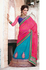http://www.variationfashion.com/collections/lehenga-sarees/products/blue-pink-colour-net-crepe-jacquard-lehenga-saree-by-hypnotex