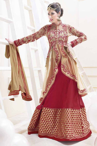 http://www.variationfashion.com/collections/lehenga-sarees/products/cream-maroon-net-embroidered-lehenga-saree