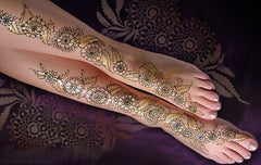 mehndi designs for sarees