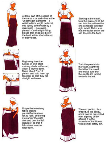 how to drape a saree