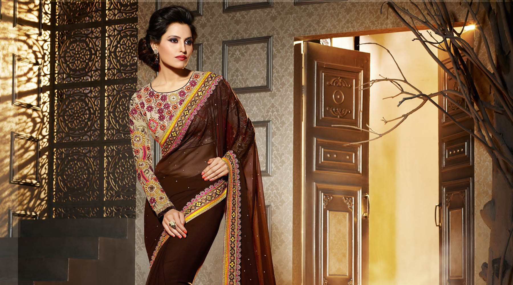 Sarees Online Shopping - Buy Latest Sarees, Designer Sarees, Party Wear Sarees, Wedding Sarees, Bridal Sarees, Half Sarees, Lehenga Sarees, Fancy Sarees and All Type of Indian Saree Blouse at Best Price on Variation.