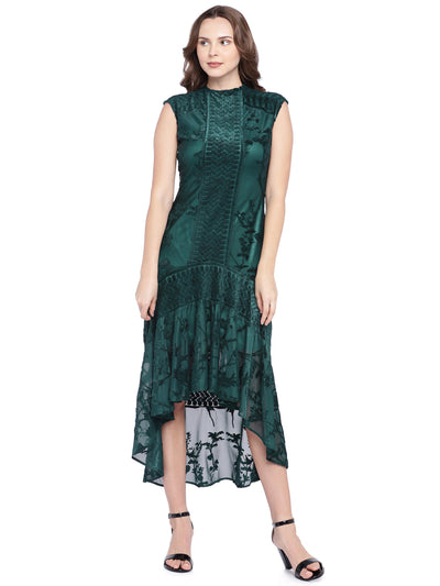A-Line Midi Dress in Green
