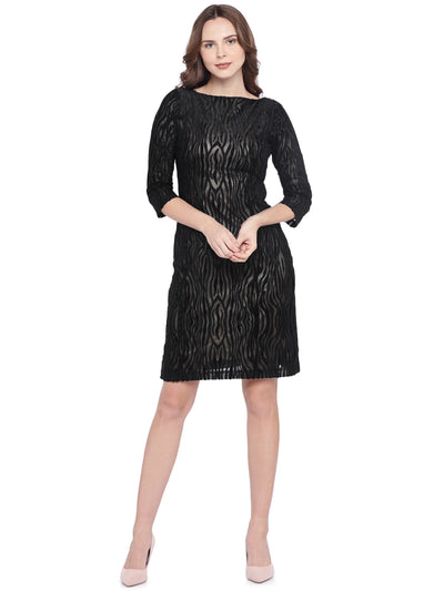 Designer Black Sheath Dress