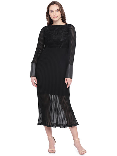 designer black dress for women