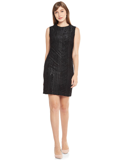 Sheath Dress in Mid-Night Black