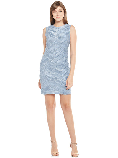 Sleeveless Sheath Dress in ice-Blue