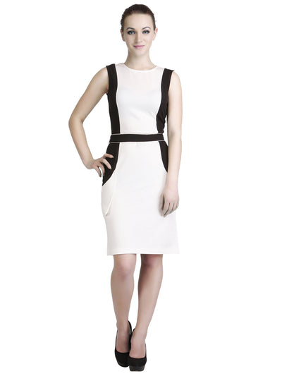 Classy Sheath Dress in White