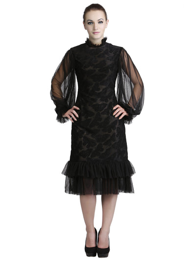 Designer Black Flapper Dress