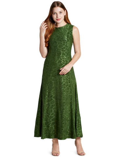 Sleeveless Maxi Dress in Green