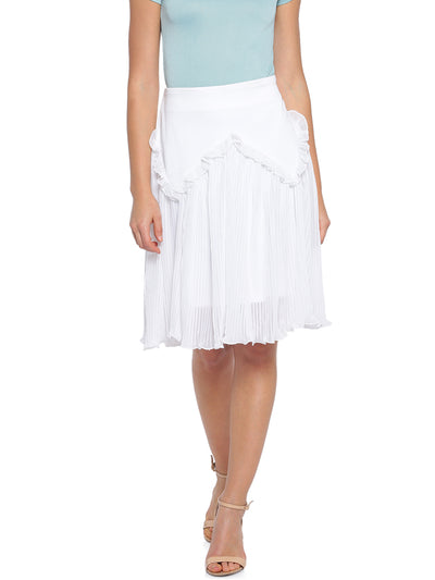 Fit and Flare Skirt in White