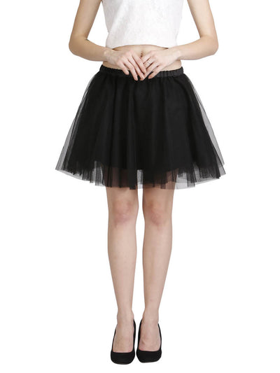 Buy Tulle Mini Skirt in Black at best price on emmyrobe. Shop onilne at emmyrobe for black skirts, tulle skirts, tutu tulle skirts and party prom skirts for girls.