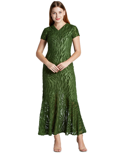 Women's Maxi Dress in Olive Green