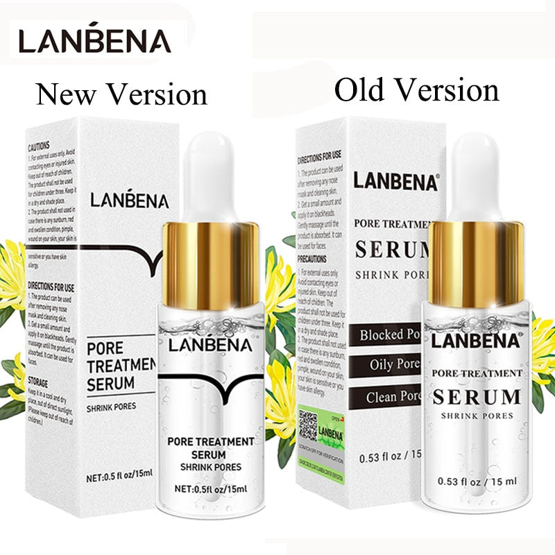 LANBENA Pore Shrinking Serum Essence Pores Treatment Relieve Dryness Oil-Control Firming Moisturizing Repairing Smooth Skin Care