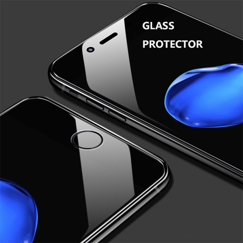 Toughened glass film for anti blue light full screen eye protection