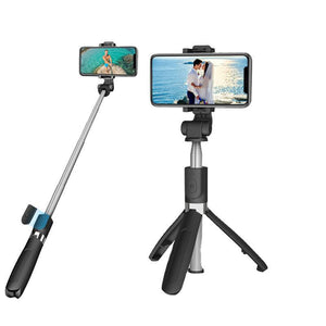 Wireless Remote Control Mobile Phone Bluetooth Selfie Stick One-piece Extendable Mini Tripod Selfie Stick Holder for phone
