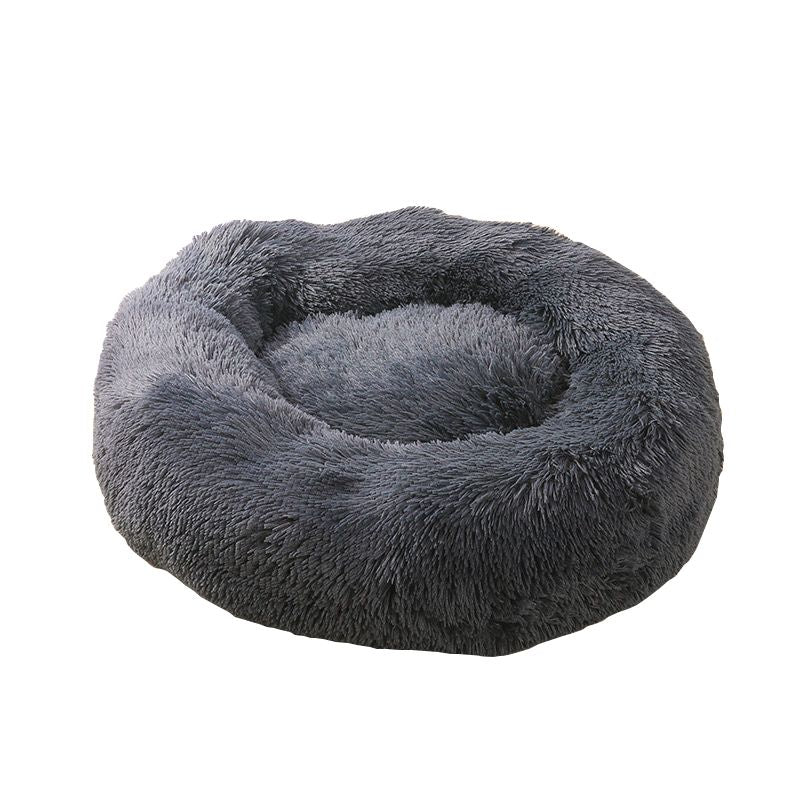 Cat Bed House Round Long Plush Super Soft Pet Dog Bed Winter Warm Sleeping Bag Puppy For Dogs Nest Products Cat Mat