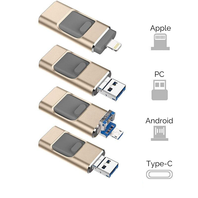 "2 Pack ""4 in 1"" USB Key"