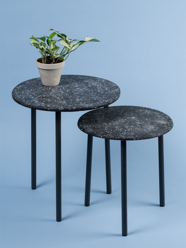 Round side table - pair