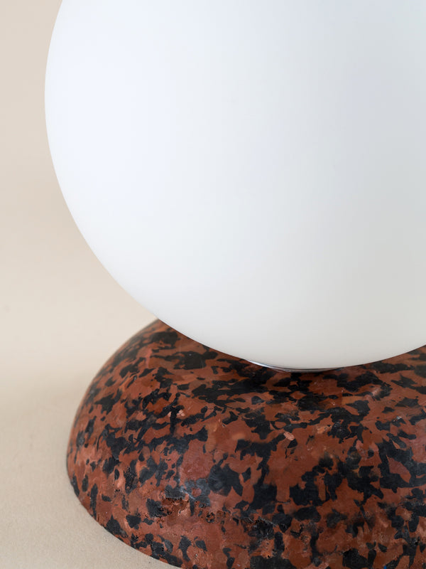 Brown & black marble lamp