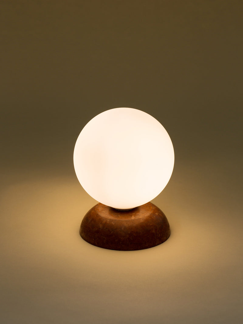Brown marble lamp