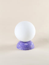 Purple marble lamp