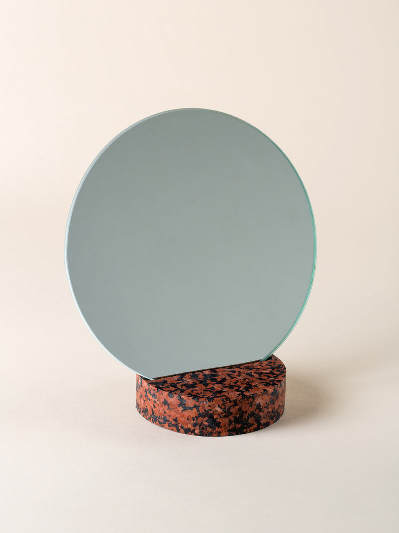Brown & black marble mirror