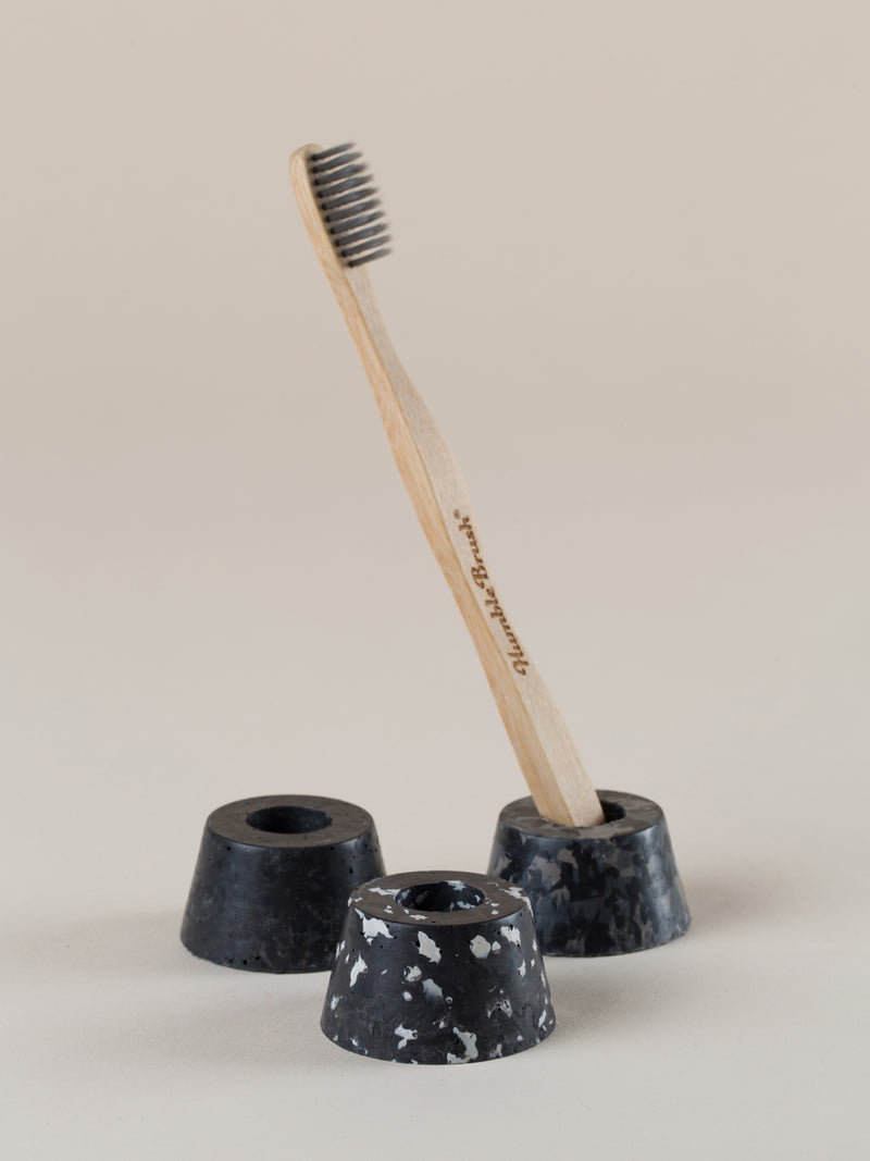 Toothbrush holder - black palette trio set