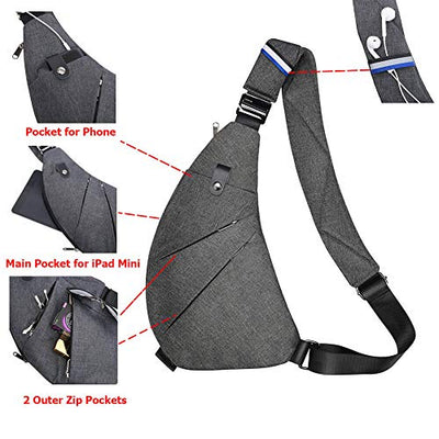 Casual Crossbody Daypack Bag | Lightweight Anti-Theft Outdoor Sport Bag
