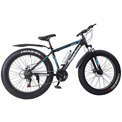 Homlpope Fat Tire Mountain Bike | 26-Inch MTB Bike with High-Tensile Aluminum Frame