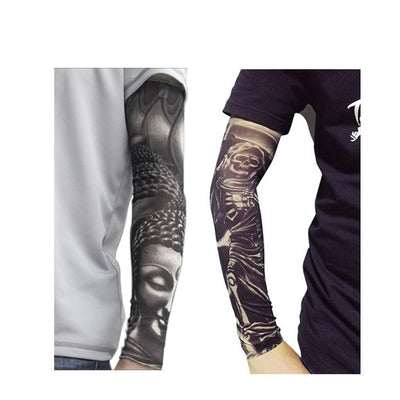 Toirxarn Sports Cooling Arm Sleeves | Sunscreen Arm Sleeves with Tattoo Print