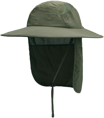 Home Prefer Men's Fishing Hat with Neck Flap | Sun Protection Wide Brim Fishing Hat