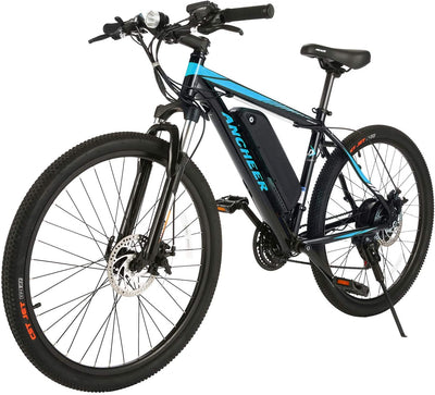ANCHEER Electric Mountain Bike | 26'' Electric Bicycle with Removable Battery