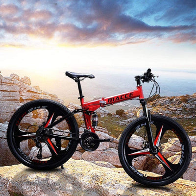 Elevin Folding Mountain Bike | 26in/24in Full Suspension Folding MTB Bike
