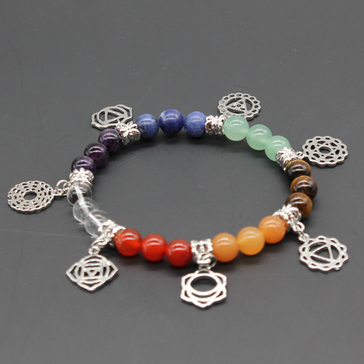 Silver Plated Healing Chakra Bracelet