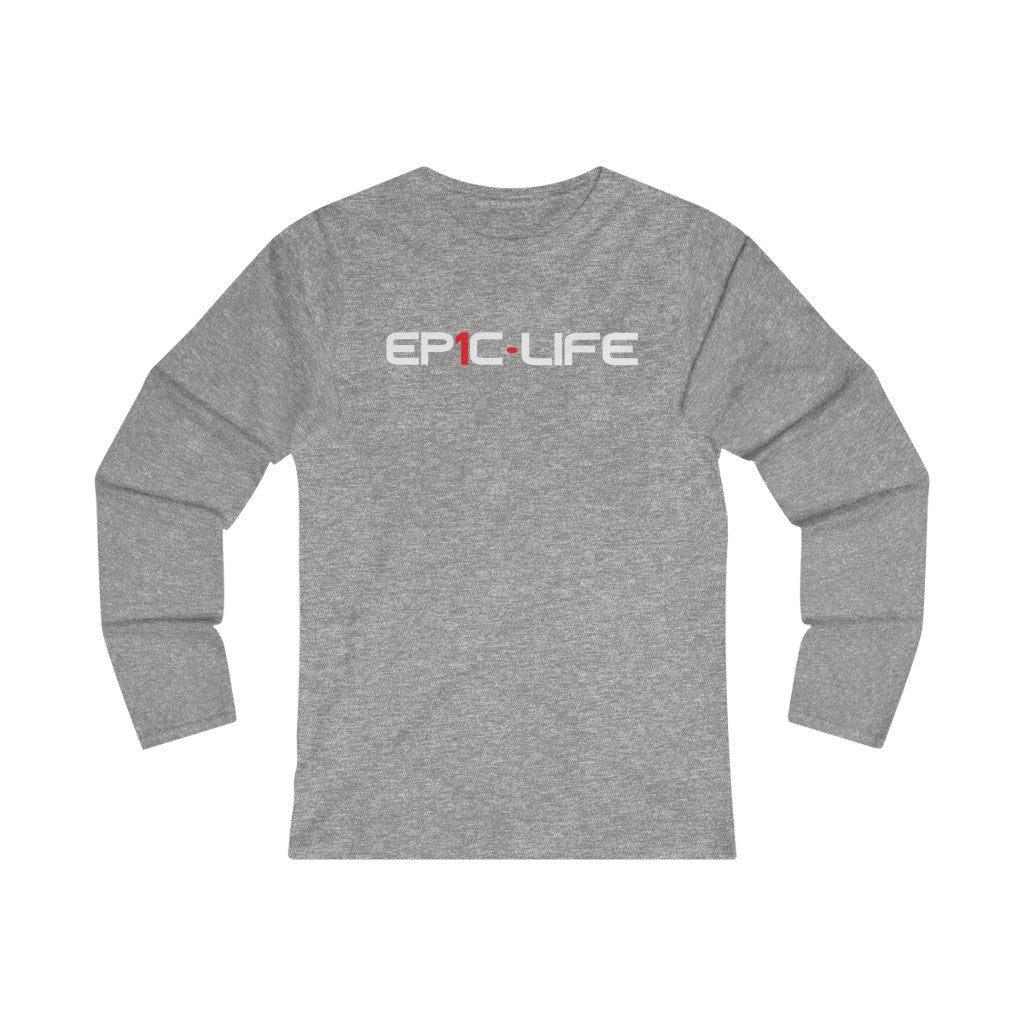 Epic (White Letter) Women's Fitted Long Sleeve Tee