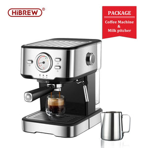 HiBREW espresso coffee machine inox semi automatic expresso make with Visual thermometer