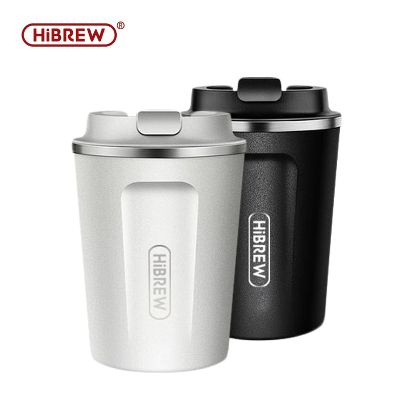 HiBrew thermal mug stainless steel double wall cool touch finger print free direct drink
