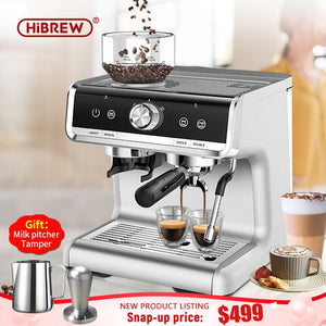 HiBREW Barista Pro auto grinding bean to coffee automatic cappuccino commercial espresso maker for cafe hotel restaurant