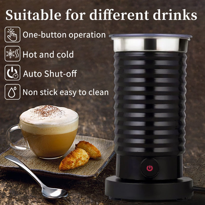 HiBREW Milk Frother Foarmer Cold/Hot Latte Cappuccino Chocolate fully automatic Milk Warmer Cool Touch H2