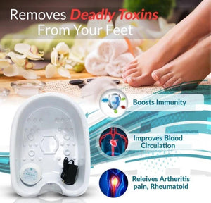 MAKES ME FEEL DETOXED AND CLEANSED!-Detox Machine Foot Bath Spa