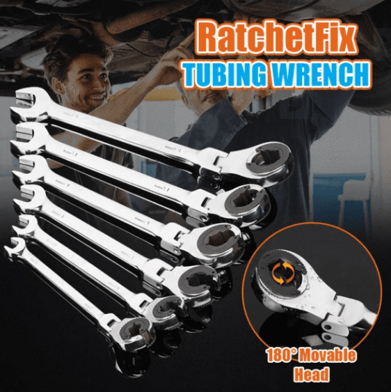 Ratcheting Wrench With Flexible Head - for quick accessibility and convenience