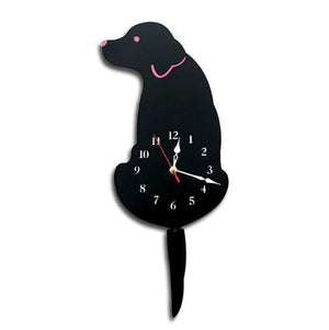 SWINGING TAIL PET WALL CLOCK