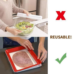 Finally! Keep Your Food Fresh Longer While Using Less Space And Reduce Single-Use Plastics!