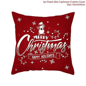 Cotton Linen Christmas Pillow Cover Cushion